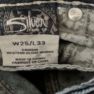 Silver Jeans Jeans - Ladies SILVER Tuesday bootcut Jeans sz 25x33L EUC